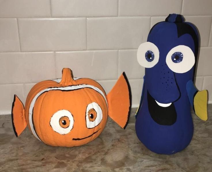 Nemo and Dory Pumpkins